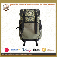 Canvas Camping Backpack Hiking Rucksack Military Tactical Backpack With Mountaineering eoodland Camo Backpack