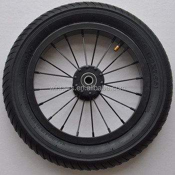 12x1.95 steel spoke rim wide aluminium bicycle wheels