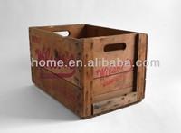 Rustic industry wooden gardening tool box
