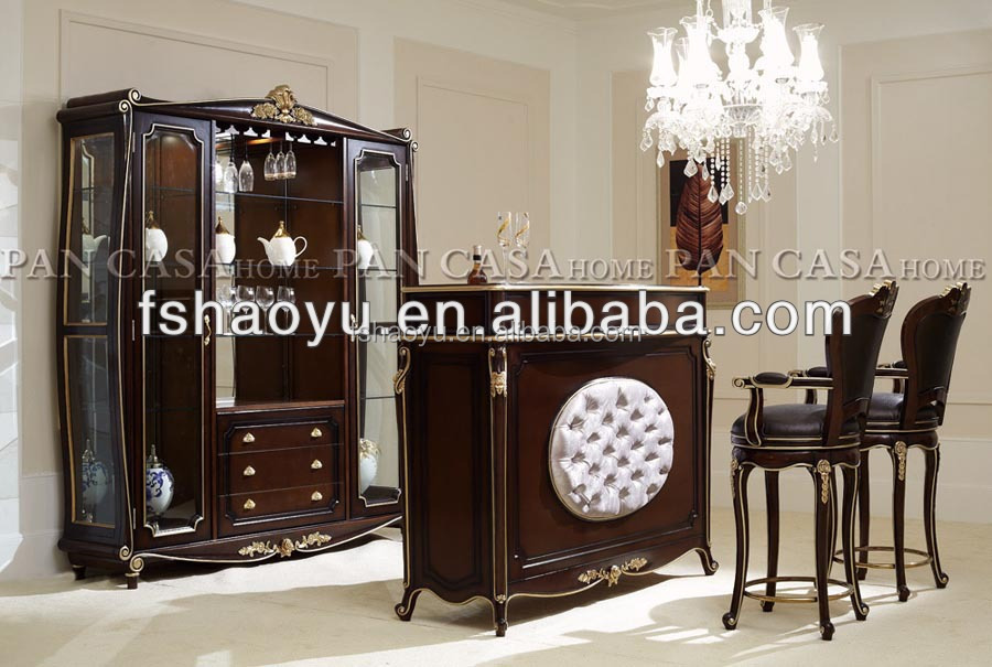 2014 Neoclassical Wood Bar Counter Luxury Home Bar Furniture Buy Bar Counters Home Bar Counter