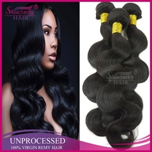 wholesale cheap Thick ends unprocessed virgin hair extensions body wave south east asian hair