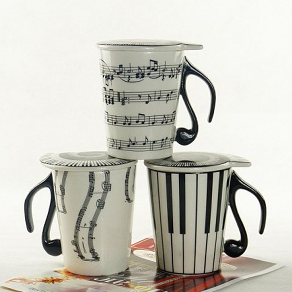 wholesale popular high quality large new musical ceramic coffee mugs with lid