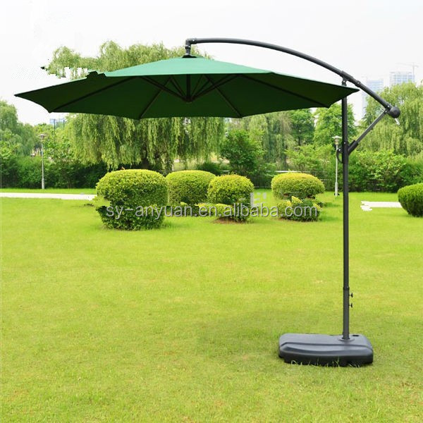 10 feet 3m garden banana Beach Round Offset Patio Commercial umbrella with cross base