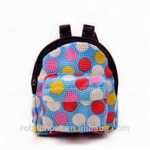 RoblionPet Cute Color Dot Pattern Backpack Pet Carrier Bag