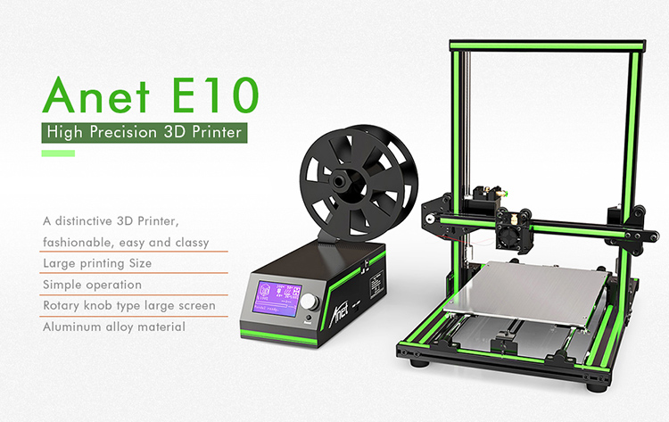 2018 Hot New Products Anet E10 3d House Printer Diy 3d Printer Kit 3d Metal Printer For Sale