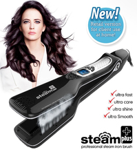 2017 Free Sample Ceramic Steam Fast Hair Straightener Brush