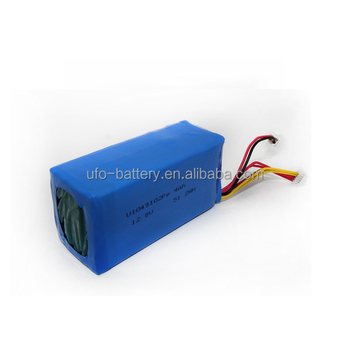 12.8V 12v 4Ah LiFePO4 Battery Pack with 4pcs of 1049102-4Ah cells in Series