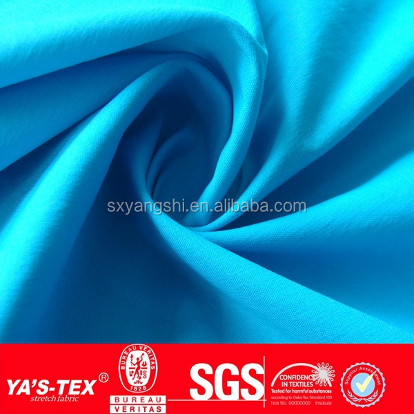plain dye blue satin silk fabric polyester fabric for sports garment material fabric