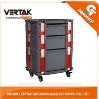 Wholesale plastic portable tool box with wheels