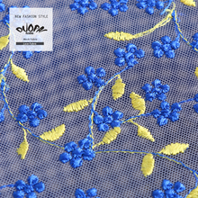 Duopai Garment Accessories Polyester/Nylon DX139# 100% Bulk Bonded embroid Tull Lace Fabric