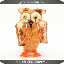 Chinese glass animals owl figurine decoration