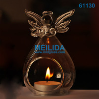Clear replacement glass angel candle holder for holiday decoration