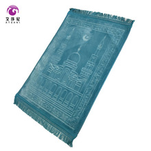 2017 China factory mosque raschel polyester prayer carpet