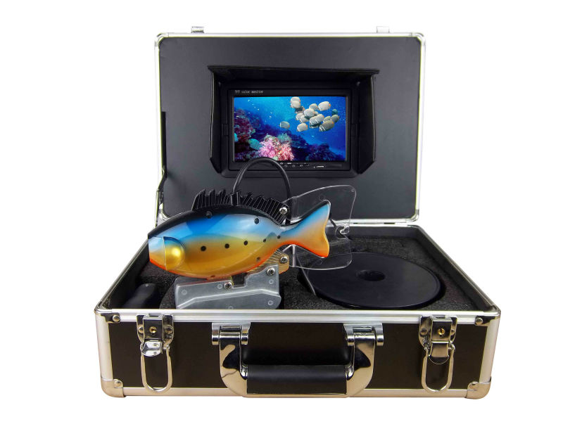 High-end underwater fish finder video