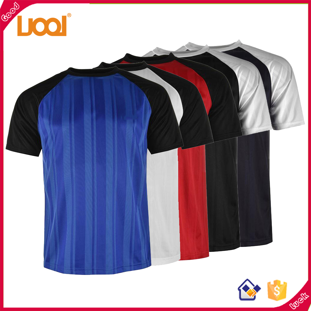 2017 OEM Accouterments Quick Dry Man Sportswear Splice Color 100%Polyester Tshirts Blank T Shirts