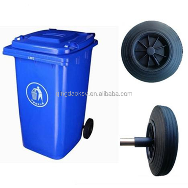"Qingdao factory 8"" dustbin <strong>wheel</strong>"
