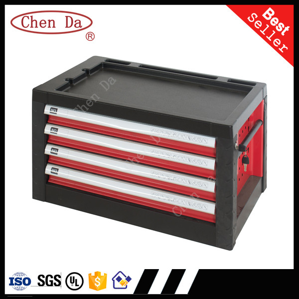 portable steel tool box handle toolbox steel chest roller cabinet with 4 drawers