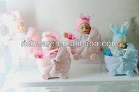 ceramic sleeping baby doll for baby souvenir
