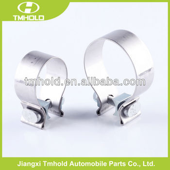 "31.7mm bandwidth auto parts Exhaust silencer clamps with 6""size"