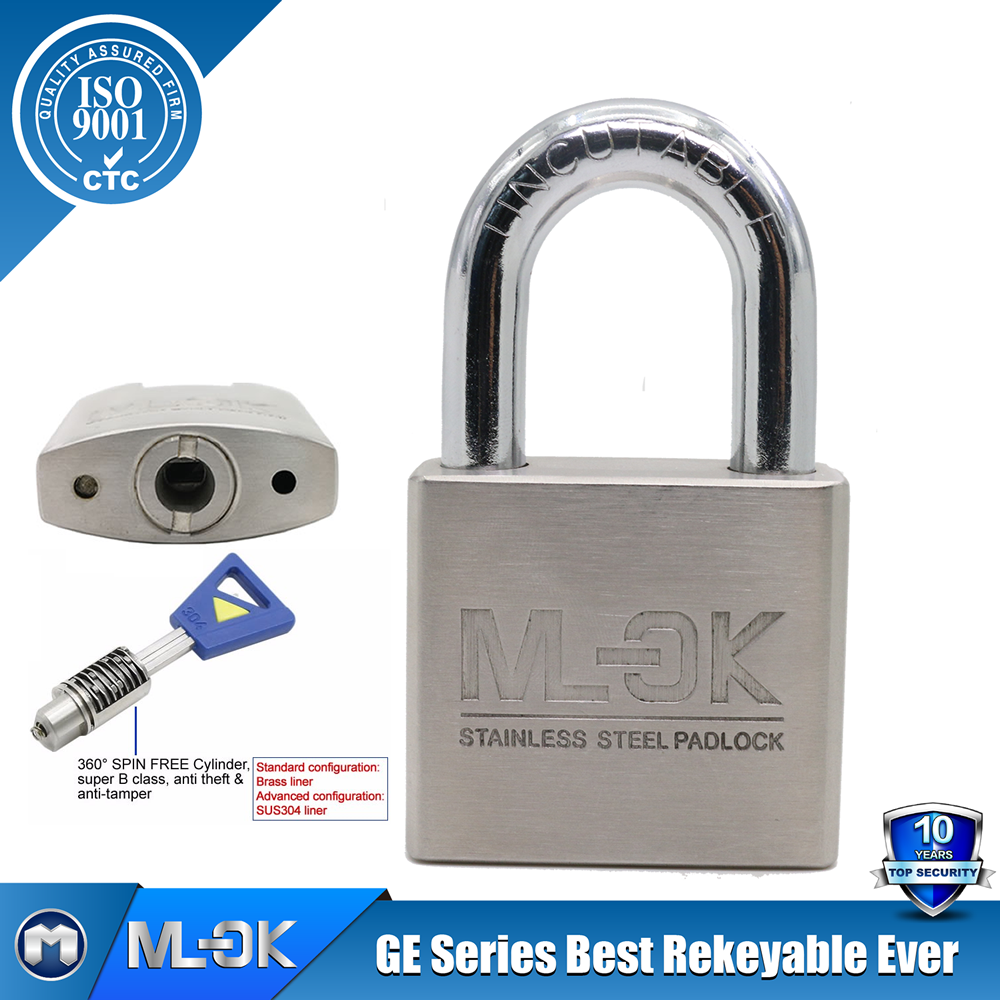 "MOK lock <strong>W11</strong>/50GEhardened steel shackle case/lock body width 13/16"" ,11/12"" ,2"",23/8"",23/4"" inch round key lock"