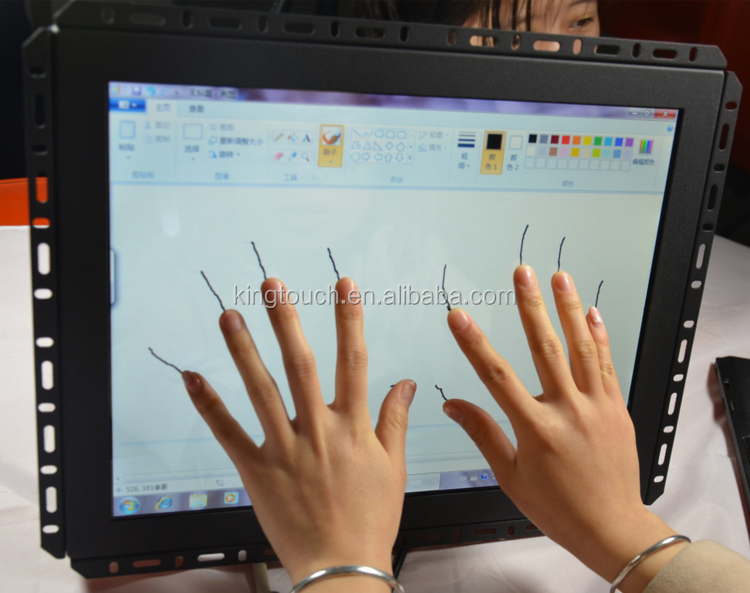 Hot Sale Open Frame 15 Inch SAW Touch Screen Monitor good quality and low price