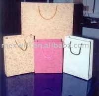 Eco friendly kraft paper shopping bags