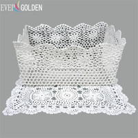 Hand Knited Lace Storage Bathroom Basket