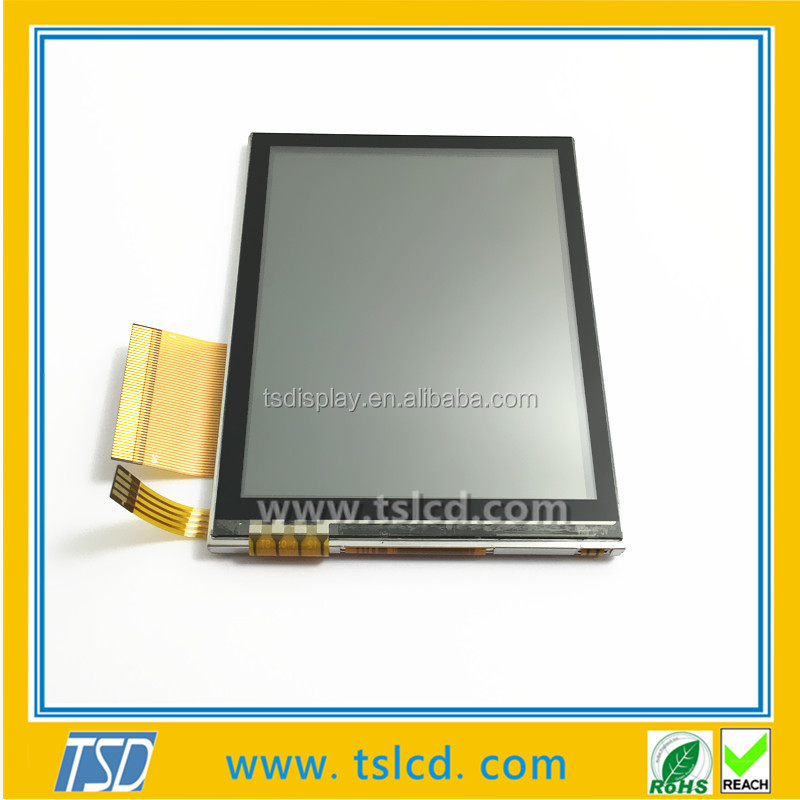"TSD LCD 3.5"" transflective TFT display 320x240, LCD sunlight readable with Resistive touch"