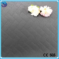 new arrival hot sale PU embossed quilted leather fabric for jacket/sofa/bag/clothing