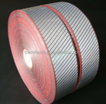 hi vis Heat Transfer Reflective Segmented PET film laser Tape Iron on Fabric / bags