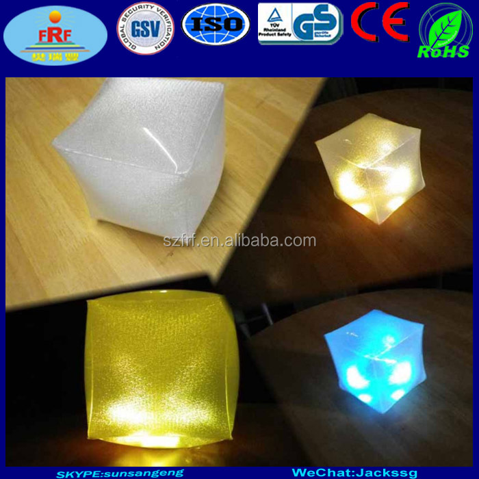 PVC Inflatable Mood Light Cube