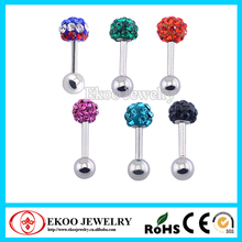 Stainless Steel Ear Stud with Epoxy Gem Tragus Earring Tragus Piercing
