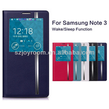 High quality PU leather case for Samsung Galaxy Note 3 case cover with wake and sleep function