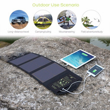 Dual USB Outputs 5V 21W Foldable Portable Solar panels Charger for smart phone