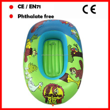 cartoon printing inflatable floating baby boats for kids