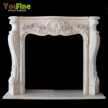 Hand Carved Natural Marble Italian Fireplaces Mantel