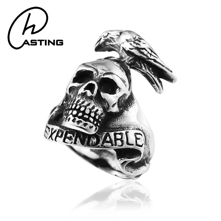 Dongguan Stainless Steel Ring Mens Skull Jewelry Supplies