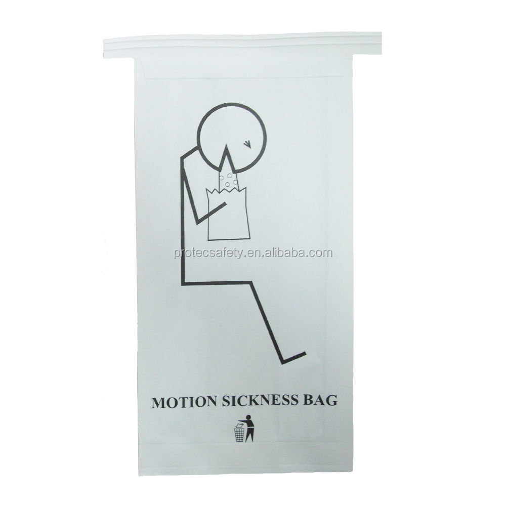Saco de papel para a companhia aérea descartável para enjôo grabage