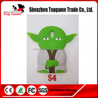 Star War Design Yoda 3d Silicone Back Cover for Samsung galaxy s4 cases