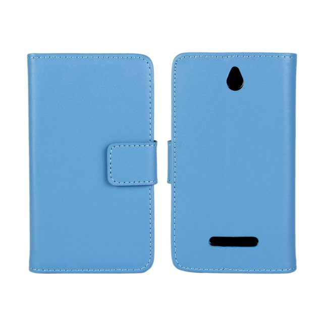 Left open solid Phone Case for Sony E Dual C 1605, Phone Case for Sony E Dual C 1605 with Card Slot and Stand