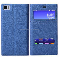 custom colorful leather cell phone cover for mobile internet with window