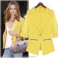 2015 Ladies Clothes Bright-Colored Women Suit