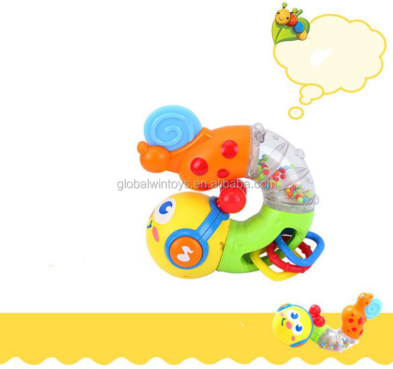 HUILE 917 Baby Musical Twisting Worm Rattle Toys Safety Brinquedos Chocalho Toys for Baby