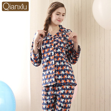 Top Grade Qianxiu Factory Outlets Cotton Comfortable Ladies Loungewear