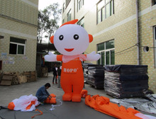 Inflatable moving costume, inflatable promotion cartoon, customized advertising moving