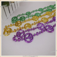 Plastic Bead Necklace Peace Necklace Luminous for Party Decorate Export USA Eco-friendly Meterial Factory Direct