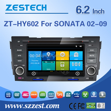 ZESTECH OEM 6.2 inch 2 din in-dash car dvd for Hyundai Sonata 2002 2003 2004 2005 2006 2007 2008 2009 car gps with USB/SD AM/FM