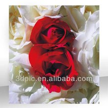Custom 3d rose flower picture for home decoration