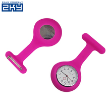 Medical silicon watch clip pocket clock with pin silicone nurse fob watch