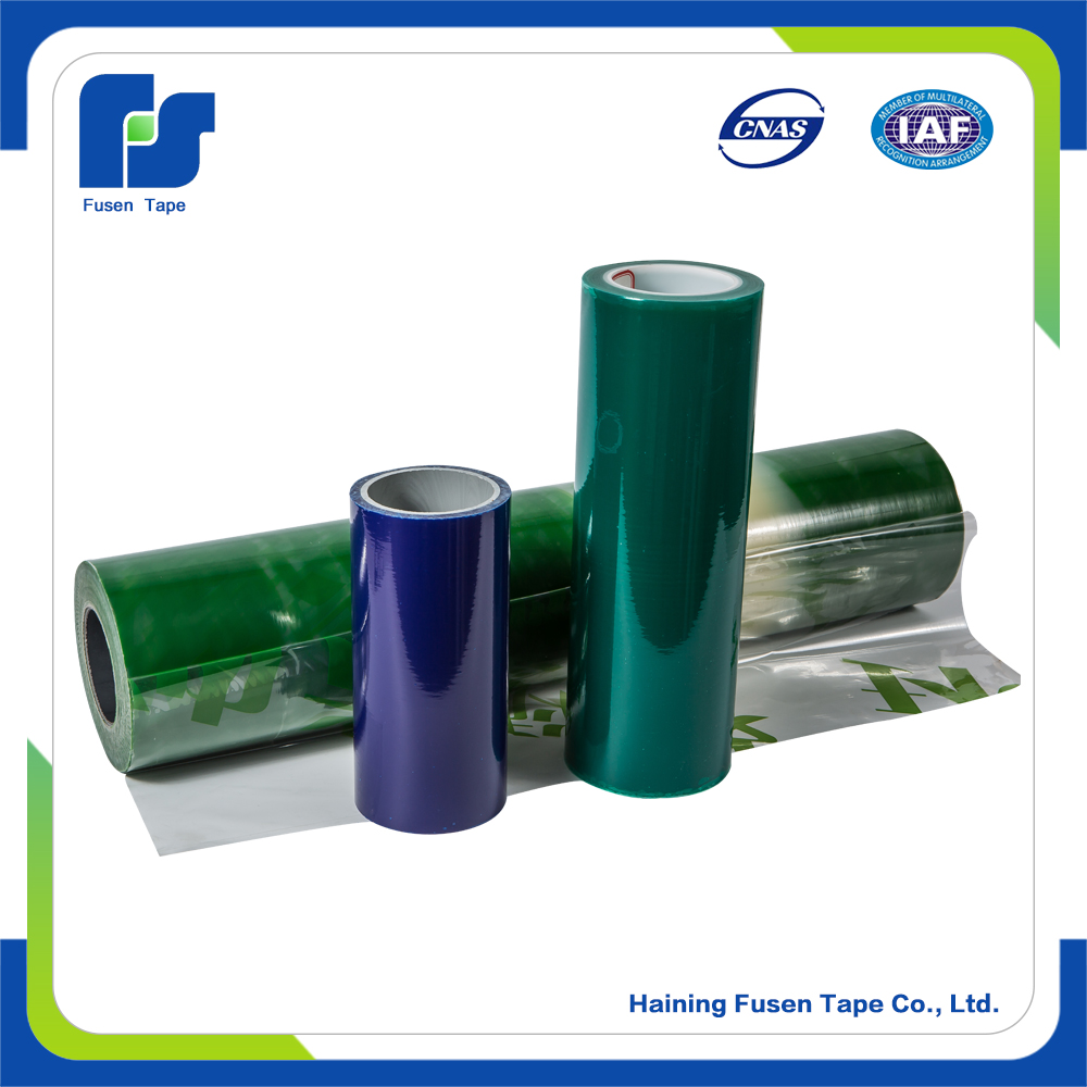 Protecting and packaging roll film for aluminum plate,aluminum honeycomb panel, exterior wall panel